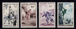 Serie Alpinisme 1956 YV 1072 à 1075 N** MNH Cote 25 Euros - Unused Stamps
