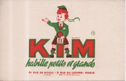 """Buvard KIM Illustré Par Coutant : """" Habille Petits Et Grands"""" - 91 Rue De Rivoli Et 8 Rue Du Louvre Paris - Textile & Clothing"""