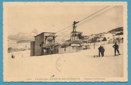 Téléférique MEGEVE-ROCHEBRUNE - Station Inférieure ( Animation) - Circulé 1936 - Megève