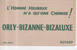 Buvard L'Homme Heureux N'a Qu'une Chemise ! Orly - Bizanne - Bizaluxe - Publidéal Bordeaux - Textile & Clothing