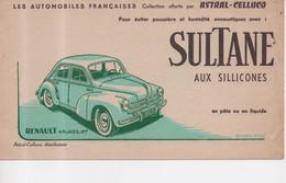 Buvard Renault 4 Places 4CV Automobiles Françaises Collection Astral Celluco Sultane Aux Sillicones Pâte Ou Liquide - Automotive