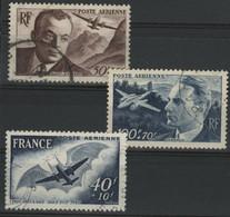 POSTE AERIENNE N° 21 à 23 Cote 10,30 € Oblitérés. - 1927-1959 Gebraucht