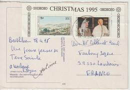 Palestinian Authority Timbres De 1995 Sur Carte Pour La France Oblit Bethlehem 1998 - Palästina