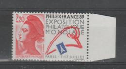 FRANCE / 1988 / Y&T N° 2524 ** : Annonce Philexfrance'89 X 1 BdF D - Ungebraucht
