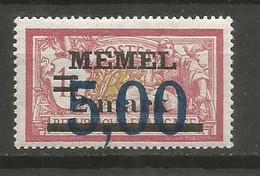 Timbre Colonie Française Memel  Neuf *  N 44 - Nuovi