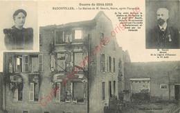 54.  BADONVILLER .  La Maison De M. Benoit , Maire, Après L'invasion. - Other Municipalities