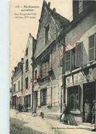 41. SAINT AIGNAN .  Rue Rouget De L'Isle  Maison XVe Siècle . CPA Animée . - Saint Aignan
