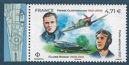 PA 85a Pierre Clostermann / Claire Roman  Du Feuillet De 10 Timbres (2020) Neuf** - 1960-.... Nuovi