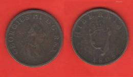 Irlanda One Penny 1805 Ireland Hibernia King George III° - Ireland
