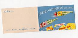 Calendrier 1959 SAINTE GENEVIEVE Eau De Table (Paris-Limonade) (PPP28121) - Small : 1941-60
