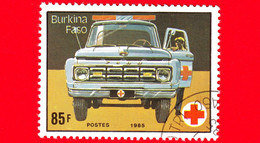 BURKINA FASO - Nuovo Oblit.- 1985 - 75 Anni Della Croce Rossa - Ambulanza - 85 - Burkina Faso (1984-...)