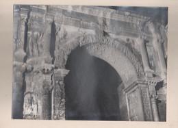 Photo Année 30-40 Format 29x20 Cm La Porte Noire ( Avant La Pollution Automobile ) Détails De L'Arc De Triomphe Besançon - Besancon