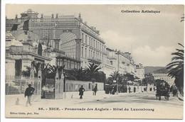CPA 06 86 NICE COLLECTION ARTISTIQUE PROMENADE DES ANGLAIS HOTEL DU LUXEMBOURG  EDITION GILETTA TBE - Plazas