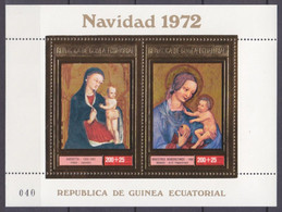 1972Equatorial Guinea188-189/B50 GoldBenedictine Master18,00 € - Autres