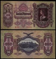 HUNGARY BANKNOTE - 100 PENGO 1930 P#98 VF (NT#05) - Hungary