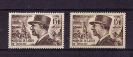 N° 920 VARIETE DE COULEUR (fond Blanc/fond Jaunatre)  NEUF** - Curiosities: 1950-59 Mint/hinged
