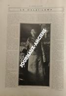 1910 LE DALAI-LAMA - THIBET - ARRIVÉ DES TROUPES CHINOISE À LASSA - FUITE DU DALAI-LAMA VERS LES INDES - 1900 - 1949