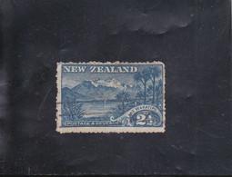 LAC WAKATIPU ET MONT EARNSLAW 2 1/2 BLEU FIL. NZ * à SIMPLE TRAIT OBLITéRé N° 102  YVERT ET TELLIER 1900-09 - Gebraucht
