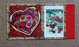 """P1-L12 : Atoadhésif - Timbre """"Saint-Valentin, Coeurs 2006 J-L  Scherrer""""  Avec Une Vignette (plantes) - Gepersonaliseerde Postzegels"""