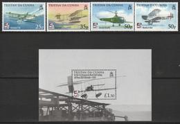 TRISTAN DA CUNHA - N°915/8+BLOC N°54 ** (2009) Aéronavale - Tristan Da Cunha