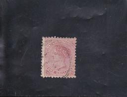 VICTORIA  1 S ROUGE BRUN  FIL. NZ  OBLITéRé N° 66  YVERT ET TELLIER 1882 - Gebraucht
