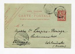 !!! CRETE, ENTIER POSTAL 10c MOUCHON POUR L'ALLEMAGNE, CACHET DE CANDIE DE 1907 - Unclassified