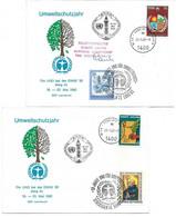 1755w: Umweltschutzjahr 1982, 2 UNO- Mitläuferbelege, Die UNO Bei Der ENNS 82, Undof Ausbatt - Environment & Climate Protection
