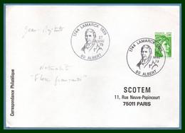Bureau Temporaire BT ALBERT 1979 LAMARCK / N° 1981A Roulette Sabine Naturaliste Fleur  Flower - Commemorative Postmarks