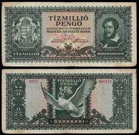HUNGARY BANKNOTE - 10 MILLION PENGO 1945 P#123 F (NT#05) - Hungary
