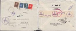 Romania - SS Feldpostprüfstelle Süd-Ost - WIEN. Reg. Cover (AS-4) Vertretung Firma, I.M.C., Bucuresti 1943 - Berlin. - Storia Postale Seconda Guerra Mondiale