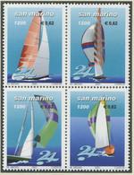 """SAN MARINO / MiNr. 1934 - 1937 / Segelregatta """"24 Stunden Von San Marino"""" / Postfrisch / ** / MNH - Schiffe"""