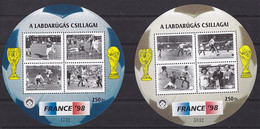 Soccer World Cup 1998 - HUNGARY - 2 S/S MNH - 1998 – Francia
