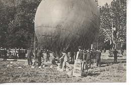 Aviation Visite De S.M. Alphonse III à Paris AERO-CLUB Le Gonflement Du Ballon G.L.C.     .....G - Globos