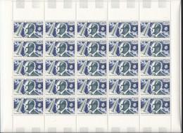 Feuille Complète De  25 Timbres Du  N° 1526 Robert Esnault-Pelterie . - Full Sheets