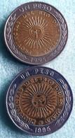 ARGENTINIE : 2 Types 1 PESO 1995 KM 112.1 + 112.2  UNC - Argentina