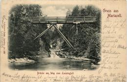 Gruss Aus Mariazell - Brücke Am Weg Zum Lassingfall - Mariazell