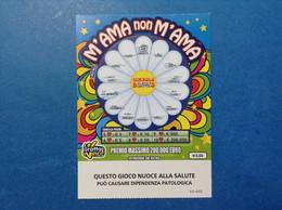 ITALIA BIGLIETTO LOTTERIA GRATTA E VINCI USATO € 3,00 M'AMA NON M'AMA LOTTO 3002 VARIANTE LOGO ADM - Lottery Tickets