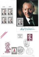 1755b: UNO- Generalsekretär Kurt Waldheim 1992, Belege Und Briefmarken ** - Covers & Documents
