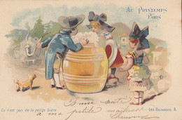 CPA  ( Pub Au Printemps )ce N Est Pas De La Petite Biere  (b Bur Theme) - Reclame