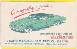 Buvard Café Masda Sao Paulo Brésil Voiture Studebaker Commander - Coffee & Tea
