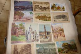 LOT DE 13 ILLUSTRATIONS PARIS ... - 5 - 99 Postcards