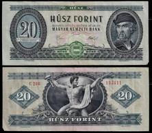HUNGARY BANKNOTE - 20 FORINT 1975 P#169f VF (NT#05) - Hungary