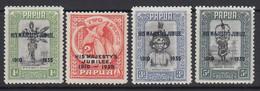 Papua, Scott 114-117 (SG 150-153), MLH - Papúa Nueva Guinea