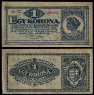 HUNGARY BANKNOTE - 1 KORONA 1920 P#57 F/VF (NT#05) - Hungary