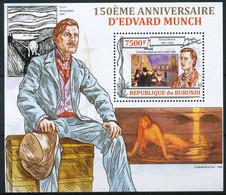 D - [32993]SUP//**/Mnh-c:17e-BURUNDI 2013 - 150eme Anniversaire D'Edvard Munch, Art, Tableaux, Impressionnisme - Impressionisme