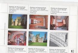 Château De Roquetaillade Restauration De E. Viollet-le-Duc Et E. Duthoit - 6 Vignettes Fabrication ITVF Photo Dubau - Monumentos