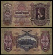 HUNGARY BANKNOTE - 100 PENGO 1930 P#98 F (NT#05) - Hungary