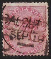 India - Scott #28 Used (1) - 1858-79 Crown Colony