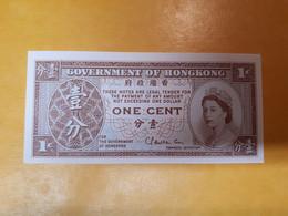 HONG KONG ONE CENT BILLET NEUF UNIFACE - Hong Kong