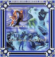 D - [36527]SUP//**/Mnh-Mozambique 2001 - Salt Lake City 2002, Sports, Patinage Artistique, Tir, Bobsleigh - Mozambique